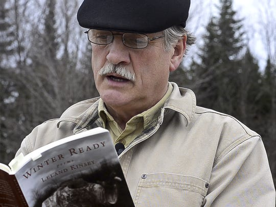 Poet Leland Kinsey reads from his latest collection of poems on Monday, April 28, 2014.