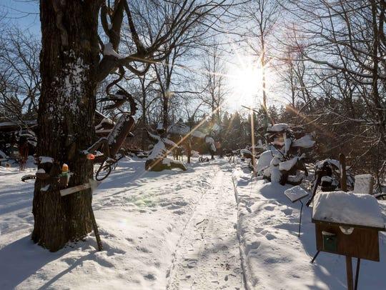 Jurustic Park is part art display, part storybook come