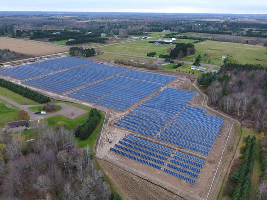 A large solar field built for Dairyland Power Cooperative in Medford.