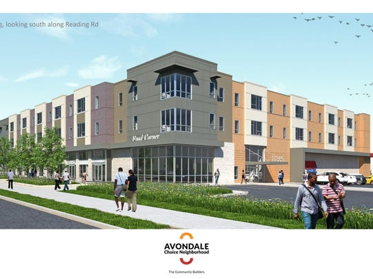 Construction of the revamped Avondale Town Center will