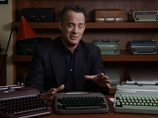 Tom Hanks shows off a portion of his huge collection of typewriters in 'California Typewriter.'