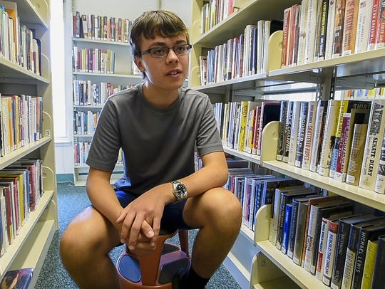 Pierson Library patron Adam Franz discusses some of