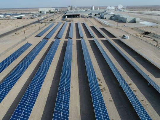A solar installation in Plaster City, California.