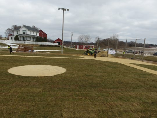 The 'Field of Dreams' site after it was repaired.
