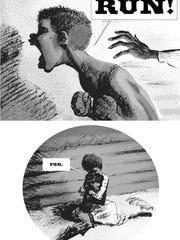 """Art from Kyle Baker's """"Nat Turner"""" book."""