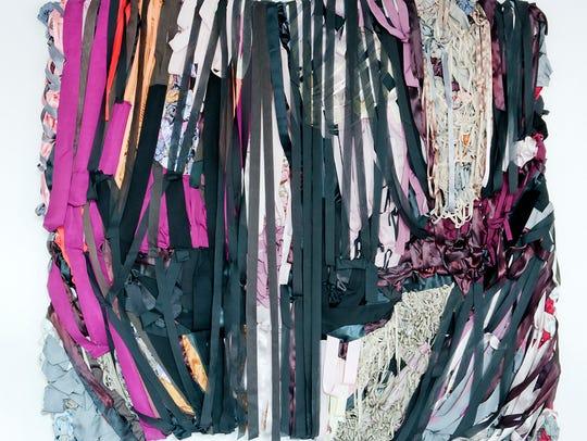 """Vadis Turner, """"Storm,"""" 2013. Fabric, ribbon, and mixed"""