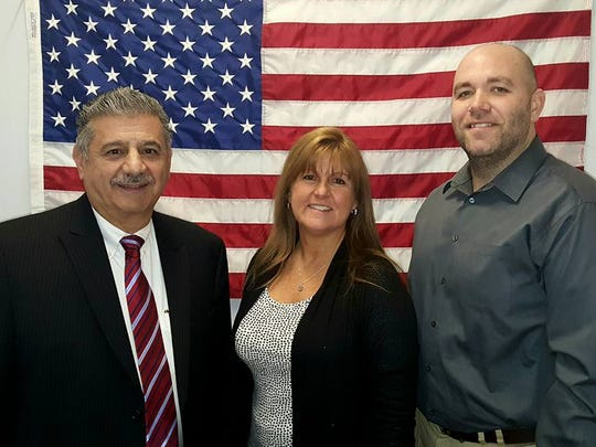 Republican candidates John Cappo, Jr., Lori Mambelli and Michael Vivino.