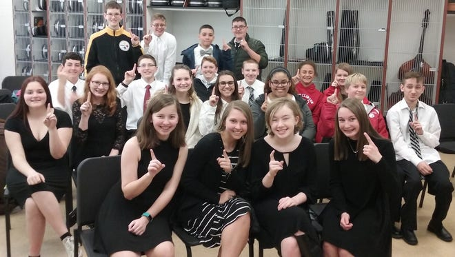 "Port Clinton Middle School orchestra students all received ""superior"" ratings, the highest possible, at the OMEA solo and ensemble contests last weekend."