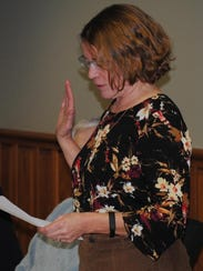 Anne Zalenski took the oath of office after being appointed