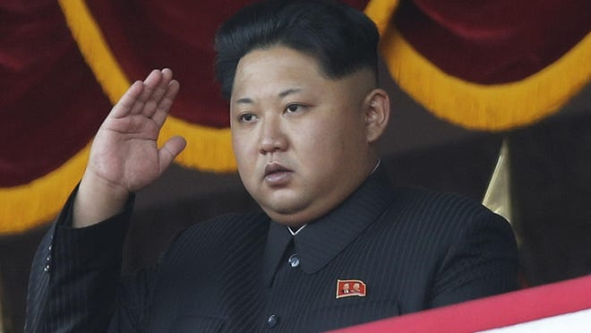 """In this Oct. 10, 2015 photo, North Korean leader Kim Jong Un salutes at a parade in Pyongyang, North Korea. North Korea's ruling party says it will hold its biggest convention in decades next May. The Workers' Party said Friday, Oct. 30, 2015 its 7th congress will be convened as it's faced with """"the heavy yet sacred task"""" of build a thriving nation. But it didn't elaborate on what the party's highest-level body will determine. (AP Photo/Wong Maye-E, File)"""