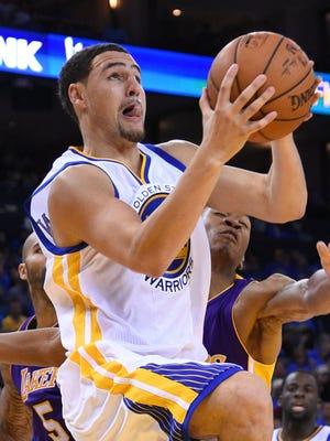 Klay Thompson scored a career-high 41 points against the Lakers.