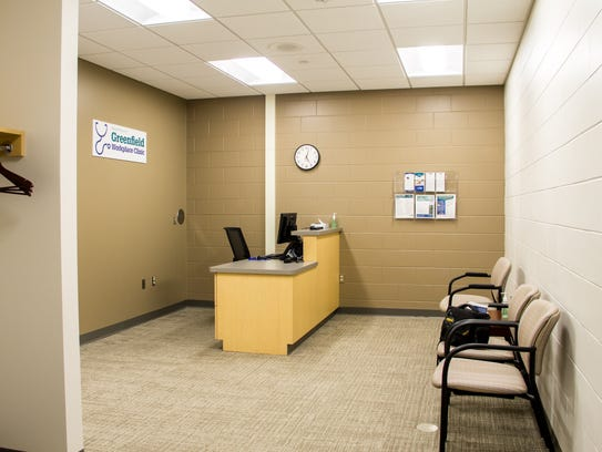 Greenfield's workplace clinic features a waiting area,