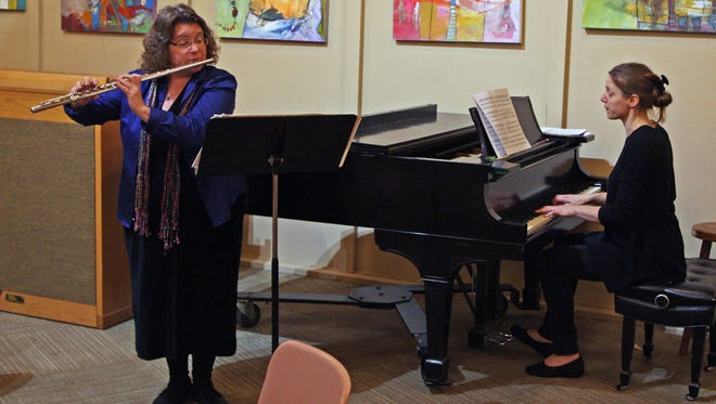 Flutist Dawn Walker and pianist Lucy Faridany