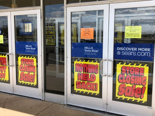 Sears at the Ocean County Mall in Toms River closed