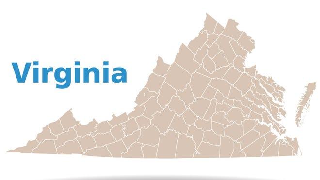 Virginia Counties Map
