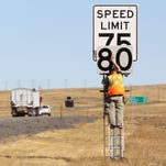 Speed limits on some interstate highways in Montana will increase to 80 mph this fall.