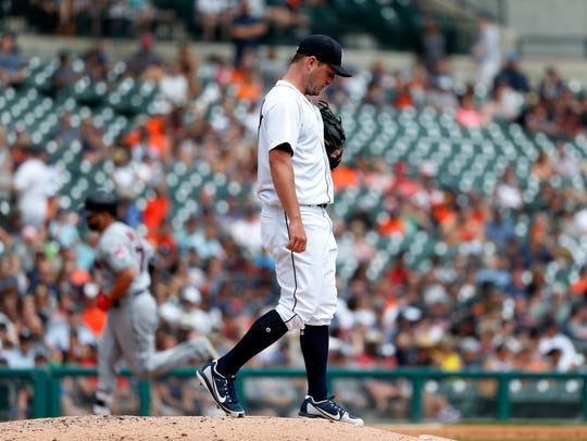 Tigers pitcher Jordan Zimmermann allowed five runs