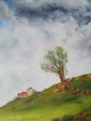 """""""Spring"""" by Loman Eng and works by the Esopus Artist Group among the works on display at the Esopus Library in Port Ewen through May 28."""