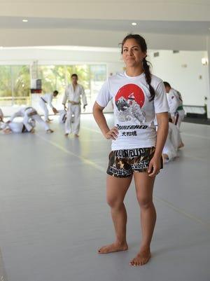 Mixed martial artist Brogan Walker-Sanchez at Purebred in Agana Heights on Dec. 9, 2017.