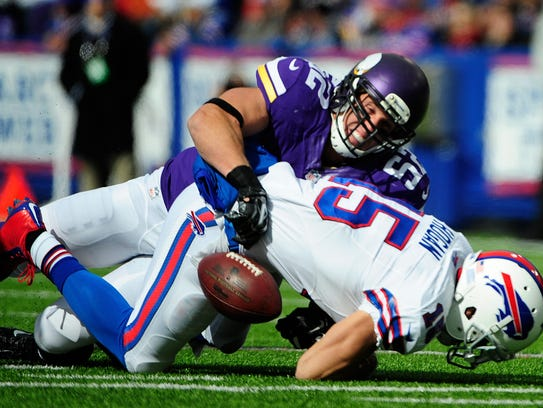 Greenway ranks fourth in Minnesota Vikings history with 1,101 career tackles