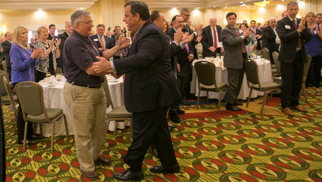 Gov. Chris Christie speaks to the Morris County Chamber of Commerce at Hanover Marriott, Hanover Twp., NJ. Monday, June 13, 2016. Special to NJ Press Media/Karen Mancinelli/Daily Record