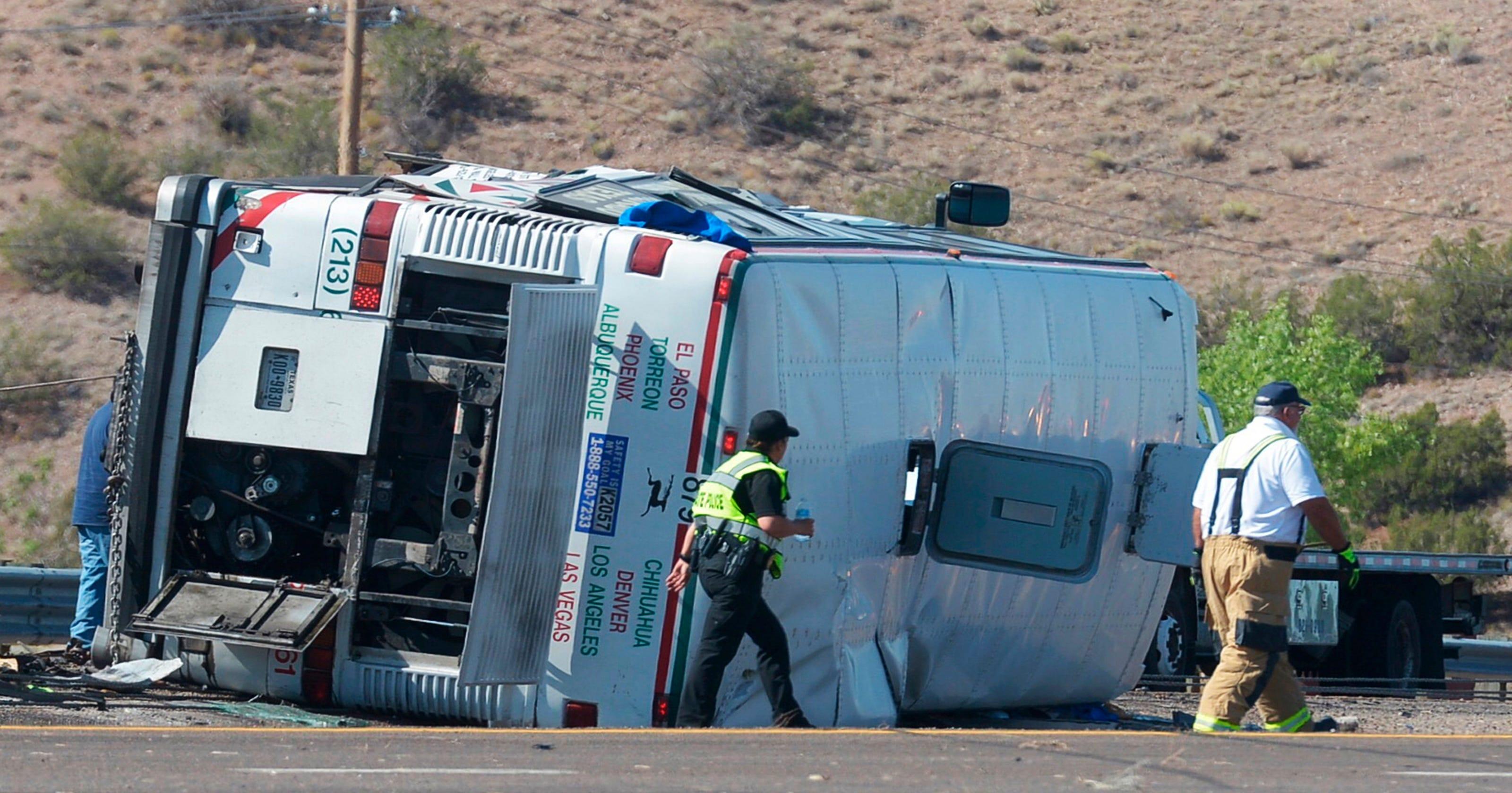3 die in NM highway crash involving passenger bus headed to El Paso