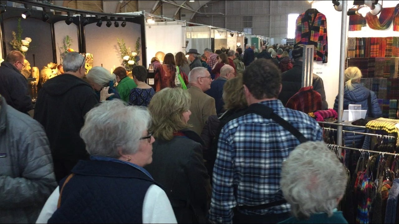 The annual Spring Craft Morristown show was packed with patrons Saturday at the Morristown Armory. The show concludes Sunday. March 17, 2018. William Westhoven/Dailyrecord.com.