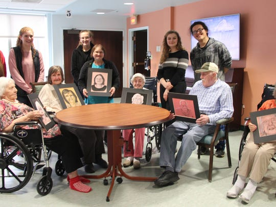 In March, Chenango Valley High School art students