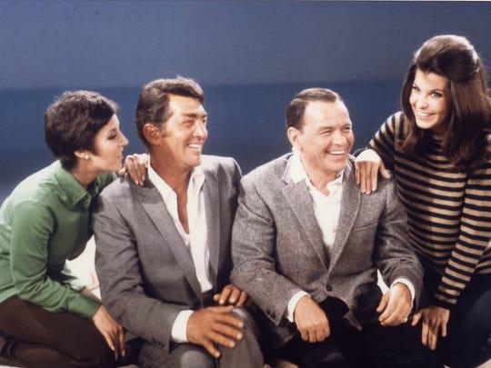 Deana Martin, Dean Martin, Frank Sinatra and Tina Sinatra.