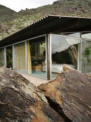 Albert Frey, Frey House II, Palm Springs, CA, 1963-64, view from the southeast
