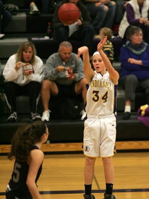 Indianola's Haley Vesey, seen here during a December 2013 game, is the girls' basketball player of the week.