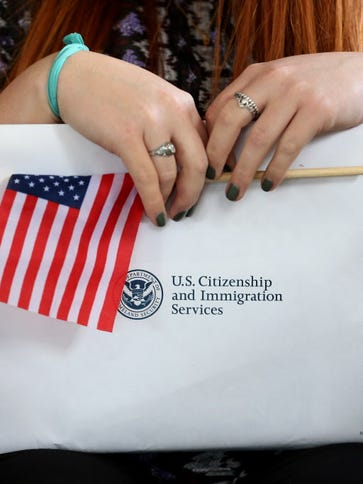 A naturalization ceremony in  2015 in Homestead, Fla.