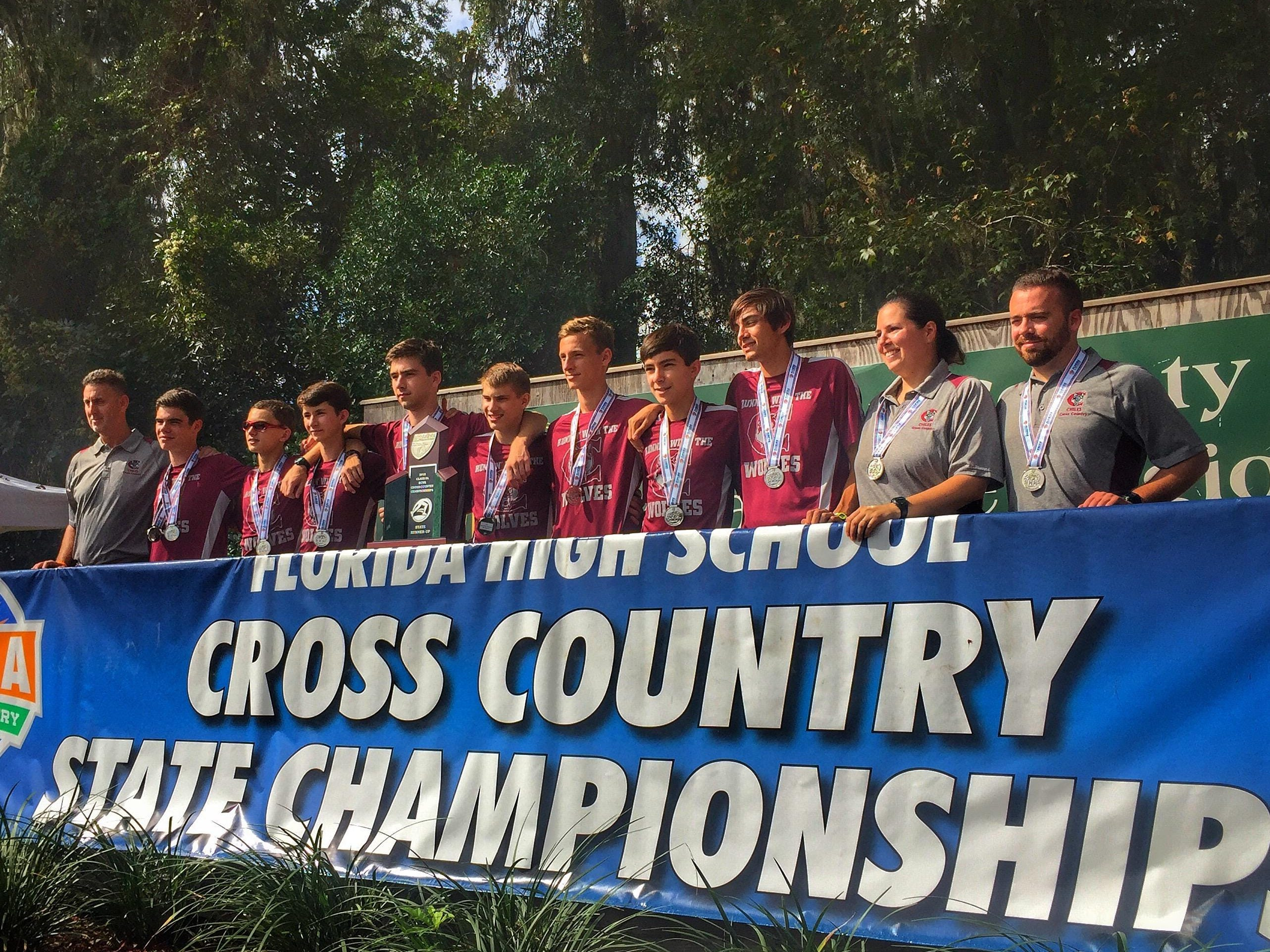 The Chiles boys cross country team finished as the Class 3A runner-up during Saturday's FHSAA state cross country meet at Apalachee Regional Park.