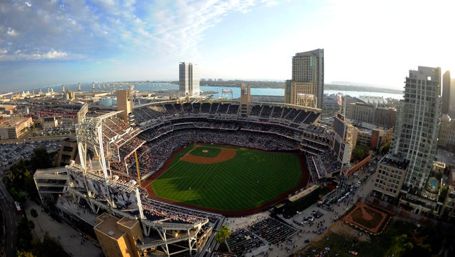 Petco Park is located near San Diego's downtown and next to its Gas Lamp entertainment district.