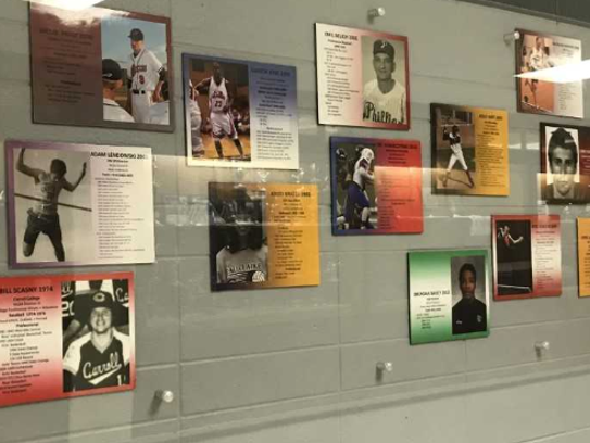 The West Allis Central High School Athletic Wall of