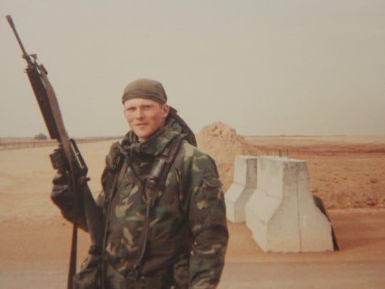 Steven Grudzinski at one of the U.S.' prisoner of war
