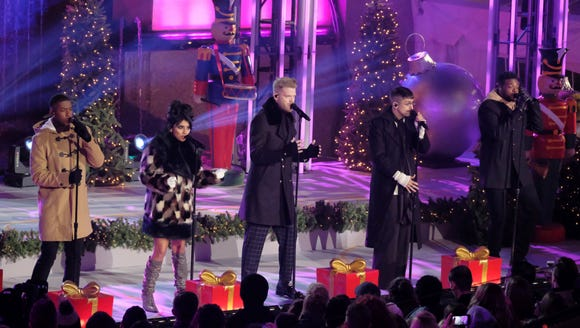 Pentatonix members, from left, Matt Sallee, Kirstin