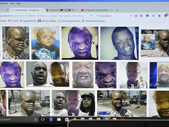 A Google image search of Jahmel Binion shows the Metro Detroit man and former basketball player Shaquille O'Neal, who made comments about his appearance.