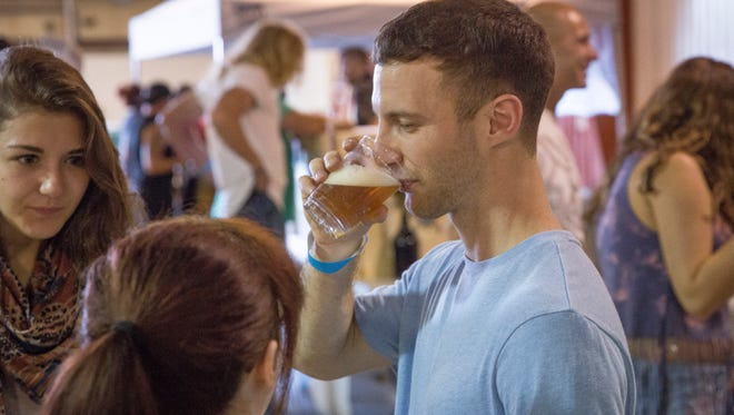 Over 200 people came out to the Inaugural Muncie Beer Fest Saturday afternoon at the Delaware County Fairground's Memorial Building.