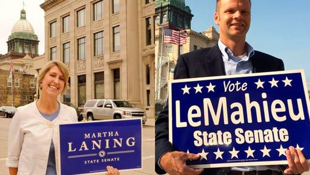 Left, Democrat Martha Laning, right Republican Devin LeMahieu
