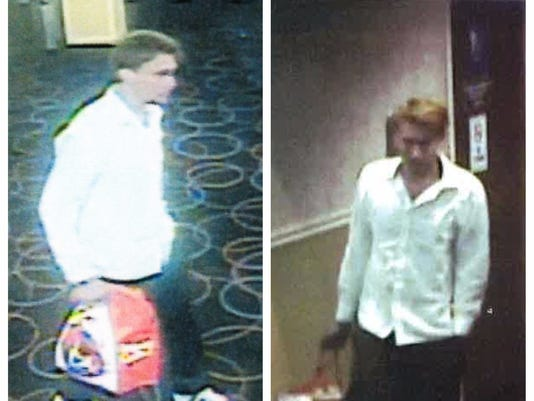 Security photos of suspect involved in Club Cal-Neva fire