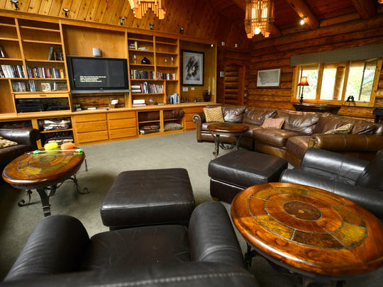 The Great Room at Montana Island Lodge on Salmon Lake.