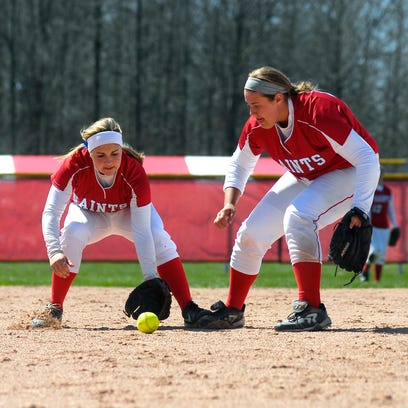 St. Clair pitcher Miranda Greig prepares to throw a pitch Sunday during a softball game against Canton at Anchor Bay High School.