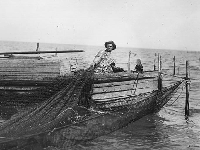 In the middle of the 19th century, Great Lakes fishing