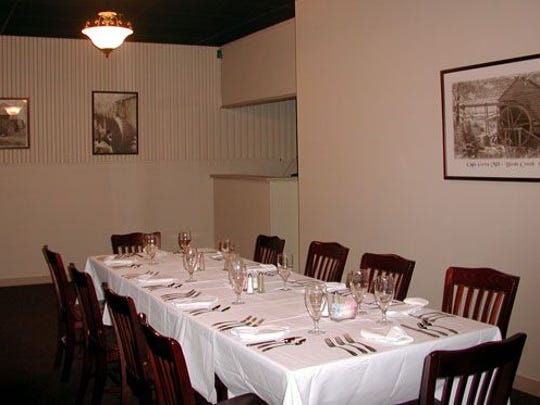 One of the dining areas of Foothills Milling Co. in