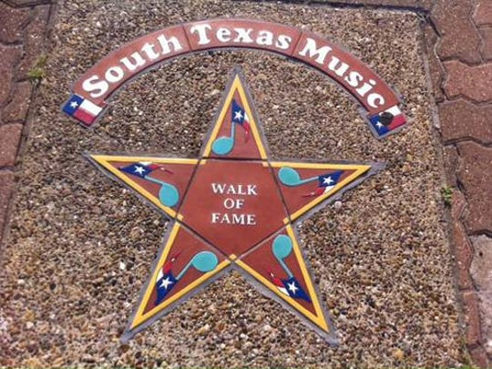 Each South Texas Music Walk of Fame star is handcrafted locally by Aloe Tile Works.