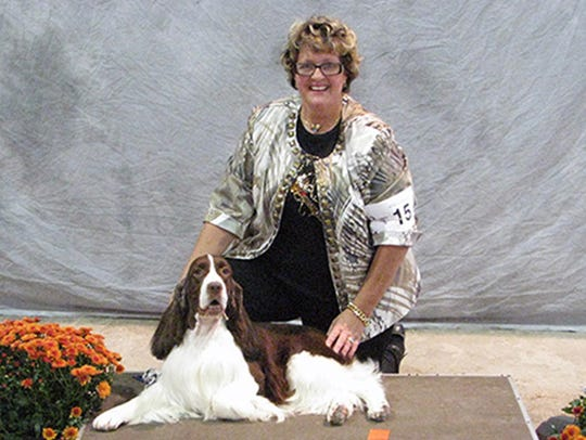 Deborah Kirk, of York, and Connor in the show ring