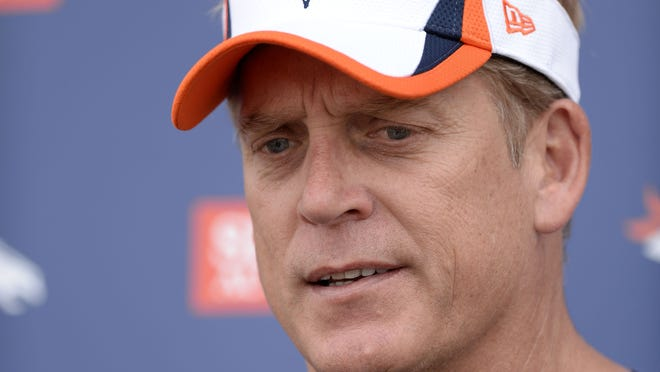 Denver Broncos defensive coordinator Jack Del Rio might end up being a candidate for the head coaching job at his alma mater of Southern Cal, but he was not in Los Angeles Sunday night to talk about the job..