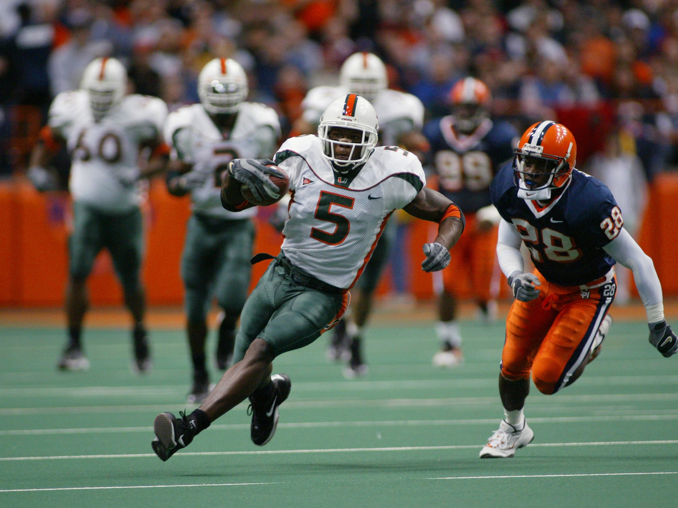 Andre Johnson was an All-American receiver at Miami and a key player on one of the greatest college football teams of all-time, the 2001 Hurricanes.