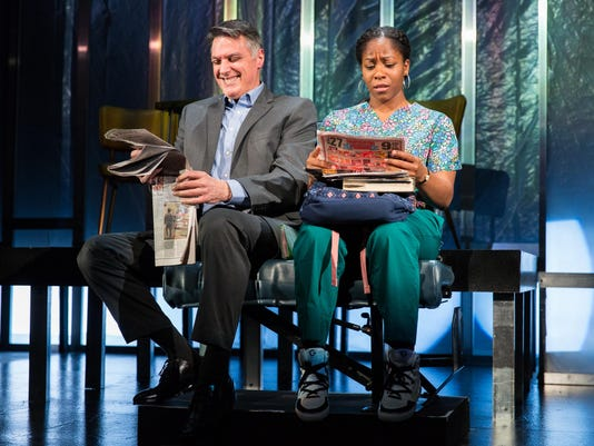 Delaware Theatre Company's 2017 production of White Guy On The Bus, written by Bruce Graham, directed by Bud Martin. Photo by Matt Urban / Mobius New Media, Inc.